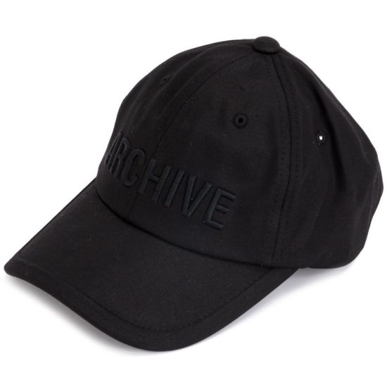 Juun.J Archive black baseball cap as seen on Rihanna