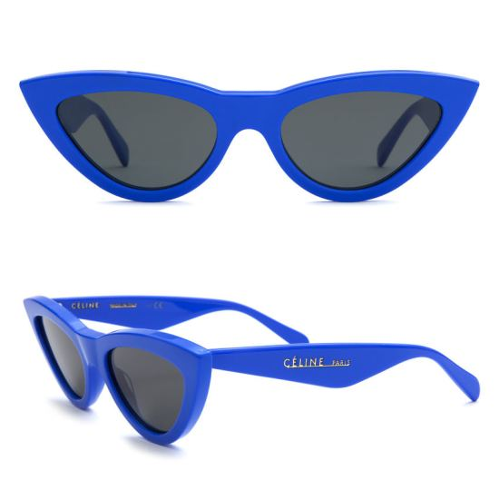 Céline blue cat-eye sunglasses as seen on Rihanna