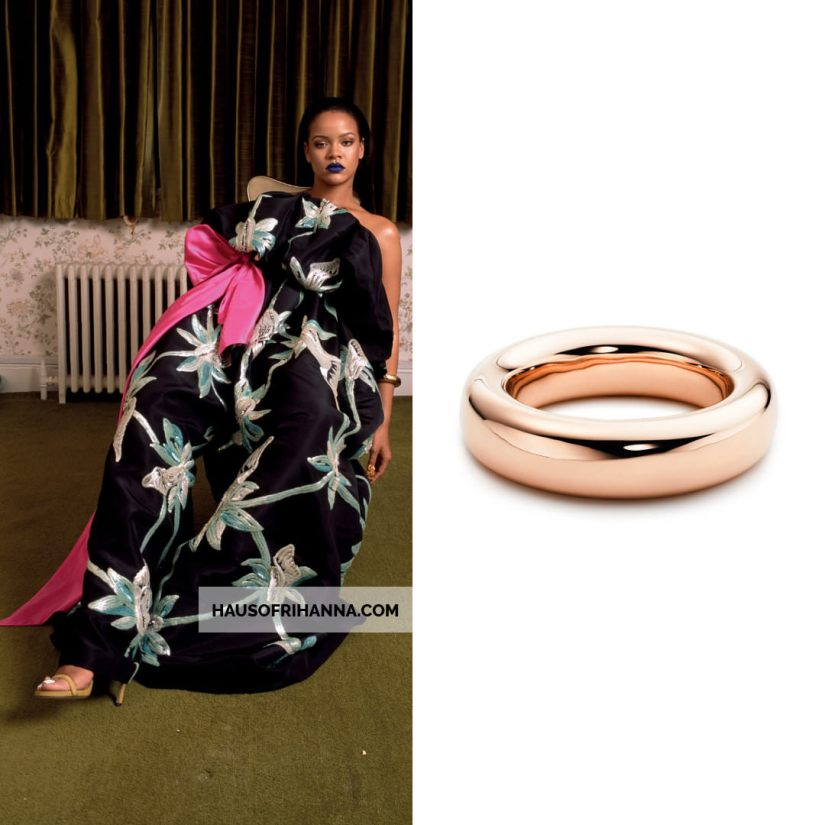 Rihanna Garage Magazine September 2018 Tiffany and Co Elsa Peretti doughnut bracelet bangle