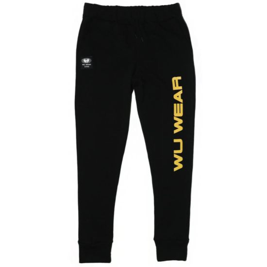 Wu Wear black logo jogger as seen on Rihanna