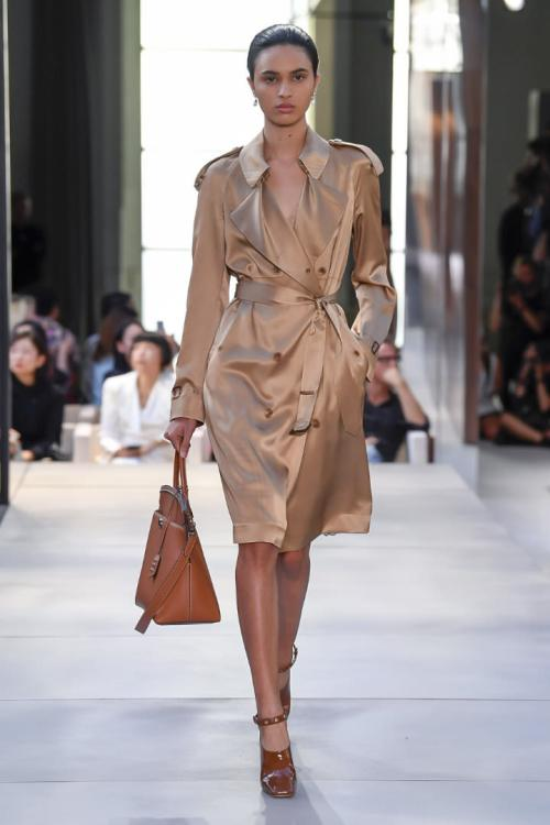 Burberry Spring 2019 silk trench coat as seen on Rihanna