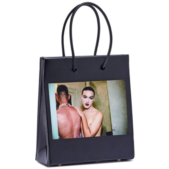Medea Nan Goldin short black handbag as seen on Rihanna