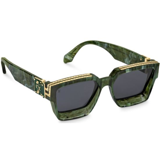 Louis Vuitton 1.1 Millionaires sunglasses in marbled green as seen on Rihanna