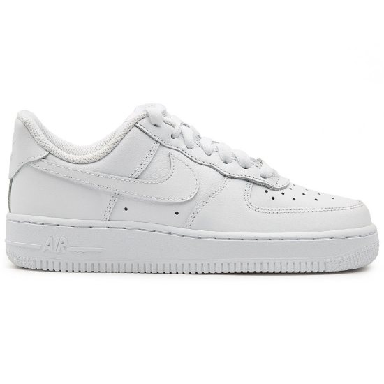 Nike Air Force 1 white sneakers as seen on Rihanna