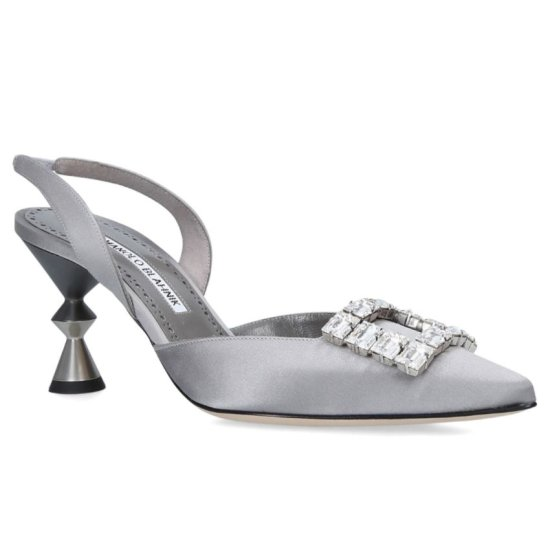 Manolo Blahnik Spuriasli slingback pumps with crystal embellishment as seen on Rihanna