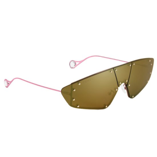 Fenty techno mask sunglasses in brownsberry as seen on Rihanna