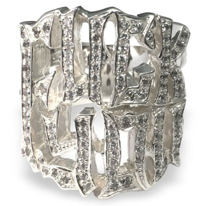 Loree Rodkin diamond F you ring as seen on Rihanna