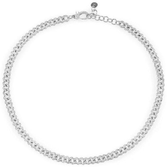 Shay mini pave diamond link anklet as seen on Rihanna