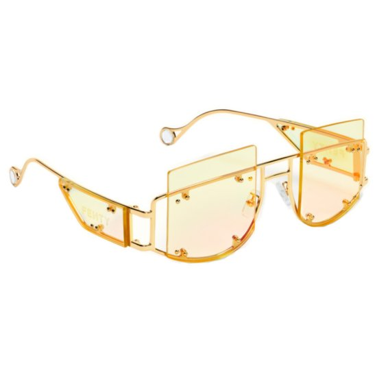 Fenty Antisocial sunglasses in Chardonnay as seen on Rihanna