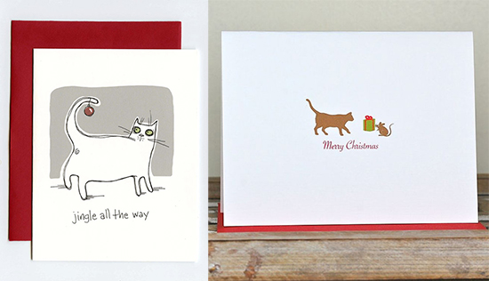 Handmade Holiday Cards With Feline Flair Hauspanther