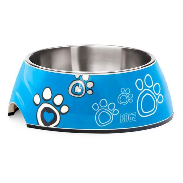rogz Hundenapf Bubble Bowlz Turquoise Paw L (700ml)|M (350ml)|S (160ml)