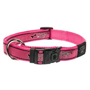 rogz Hundehalsband Fancy Dress Pink Bones L (34-56cm) 20mm|M (26-40cm) 16mm|S (20-31cm) 11mm|XL (43-70cm) 25mm|XXL (50-80cm) 40mm