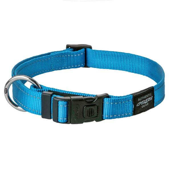 rogz Hundehalsband Utility hellblau M (26-40cm) 16mm