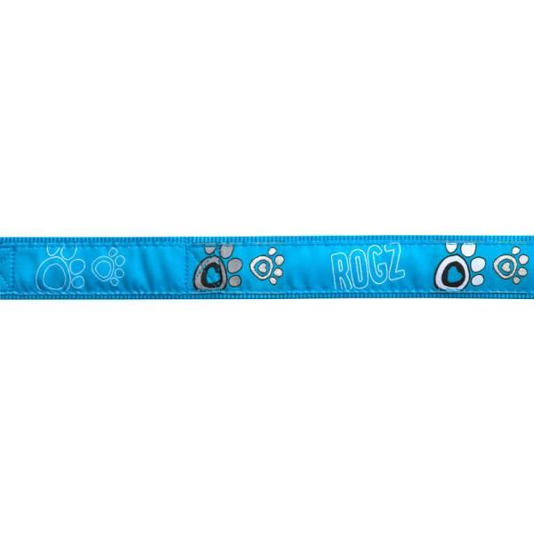 rogz Hundeleine Fancy Dress Turquoise Paw L (180cm) 20mm M (180) 16mm S (180cm) 11mm XL (180cm) 25mm