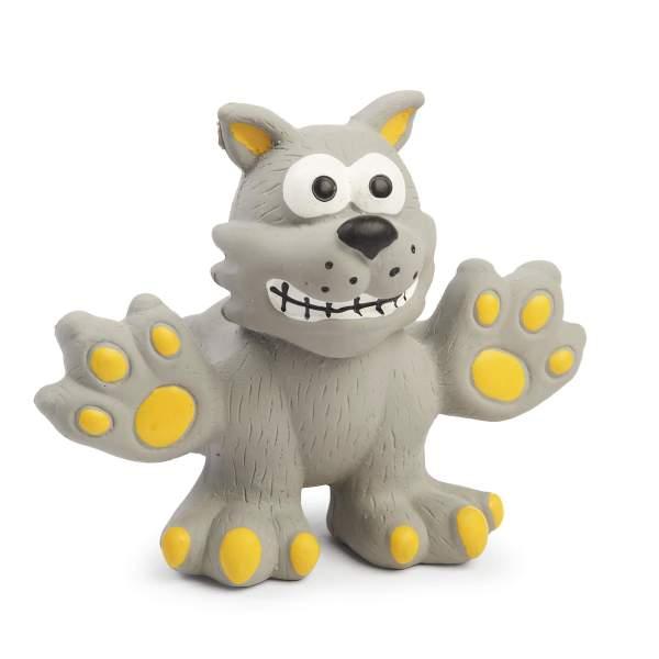 Freezack Hundespielzeug Latex Böse Katze grau