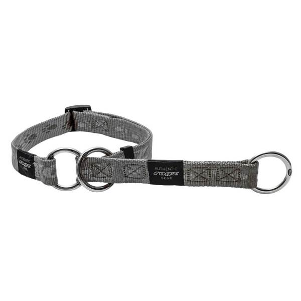rogz Stop Hundehalsband Alpinist silber L (34-56cm)|M (26-40cm)|XL (43-70cm)