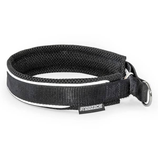 Freezack Stop Halsband Nordic Fashion schwarz reflektiv L (50/55cm) 25mm|M (45/50cm) 25mm|S (35/40cm) 20mm|XL (55/60) 25mm