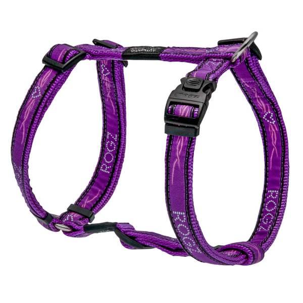 rogz Hundegeschirr Fancy Dress Purple Chrome L (45-75cm) 20mm|M (32-52cm) 16mm|S (23-37cm) 11mm|XL (60-100cm) 25mm