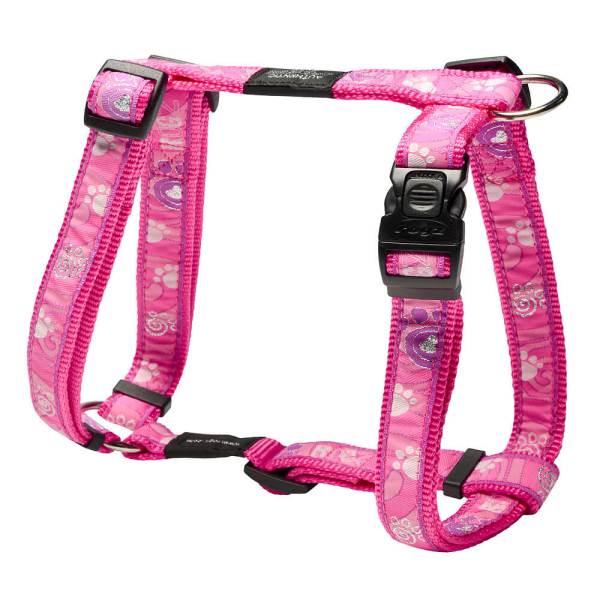 rogz Hundegeschirr Fancy Dress Pink Paws L (45-75cm) 20mm M (32-52cm) 16mm S (23-37cm) 11mm XL (60-100cm) 25mm