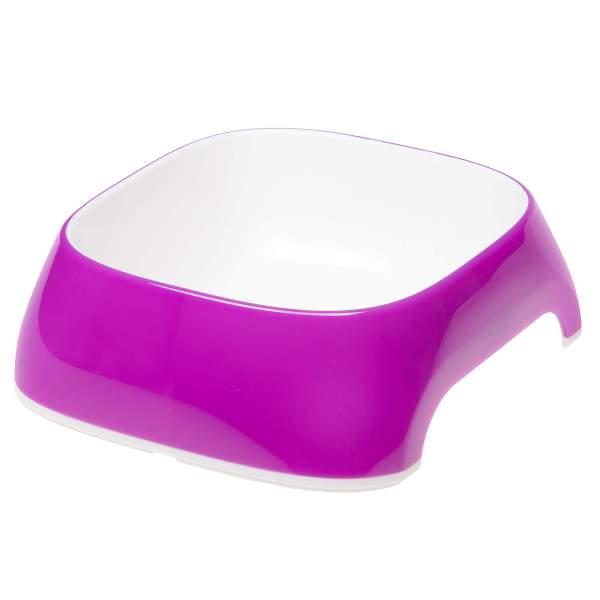 Ferplast Glam violett, Kunststoffnapf violett M (20x18.5x6cm) 0.75L|S (15x13.5x5cm) 0.4L