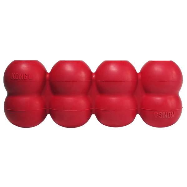 KONG Hundespielzeug Goodie Ribbon rot L (8.5x21.5cm)|M (6.5x18cm)|S (5x13.5cm)