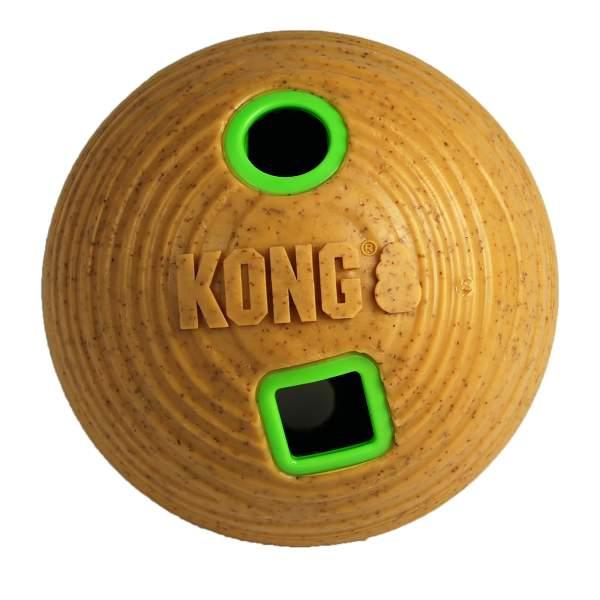 KONG Hundespielzeug Bamboo Feeder Ball (Ø12cm)