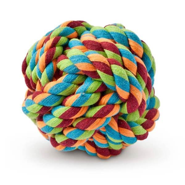 Freezack Hundespielzeug Knotenball mehrfarbig L (11cm)|M (8.5cm)|S (6cm)