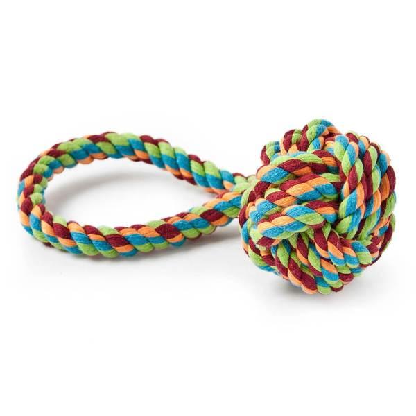 Freezack Hundespielzeug Knotenball mit Schlaufe L (50cm)|M (25cm)|S (20cm)