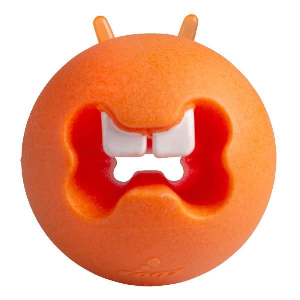 rogz Hundespielzeug Fred Treat Ball orange