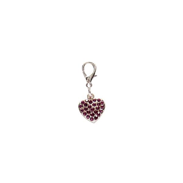 Dog Jewellery Heart violet