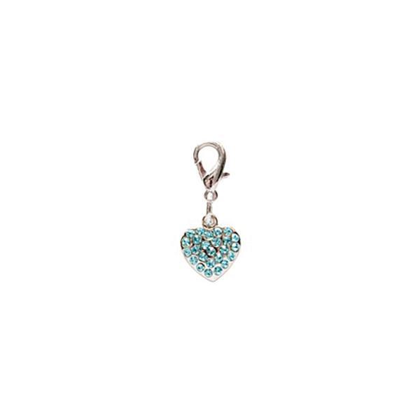 Dog Jewellery Heart hellblau