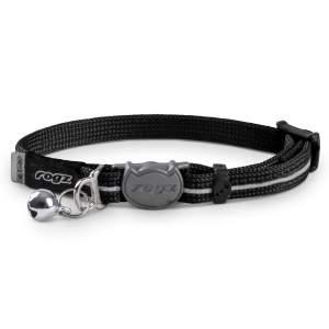 rogz Katzenhalsband Alleycat schwarz 16.5-23cm (8mm)|20-31cm (11mm)