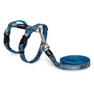 Geschirr & Leine ReflectoCat blau 1.8m/19.8-30cm (8mm)|1.8m/24-40cm (11mm)