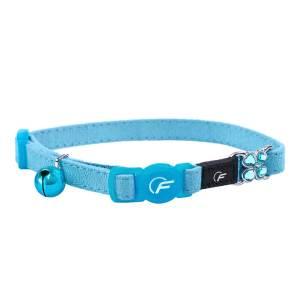 Freezack Katzenhalsband Suede blau (B)