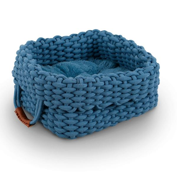 District70 District70 Katzenbett Rope basket blau, 40x30x30cm