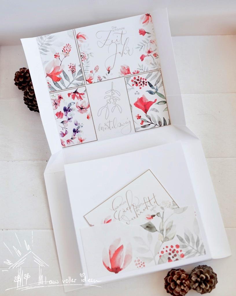 Selbstschließende Verpackung mit Materialien von Unsere kleine Bastelstube. Mit kostenloser Anleitung. Vielfältige Einsatzmöglichkeiten für Geschenkideen.