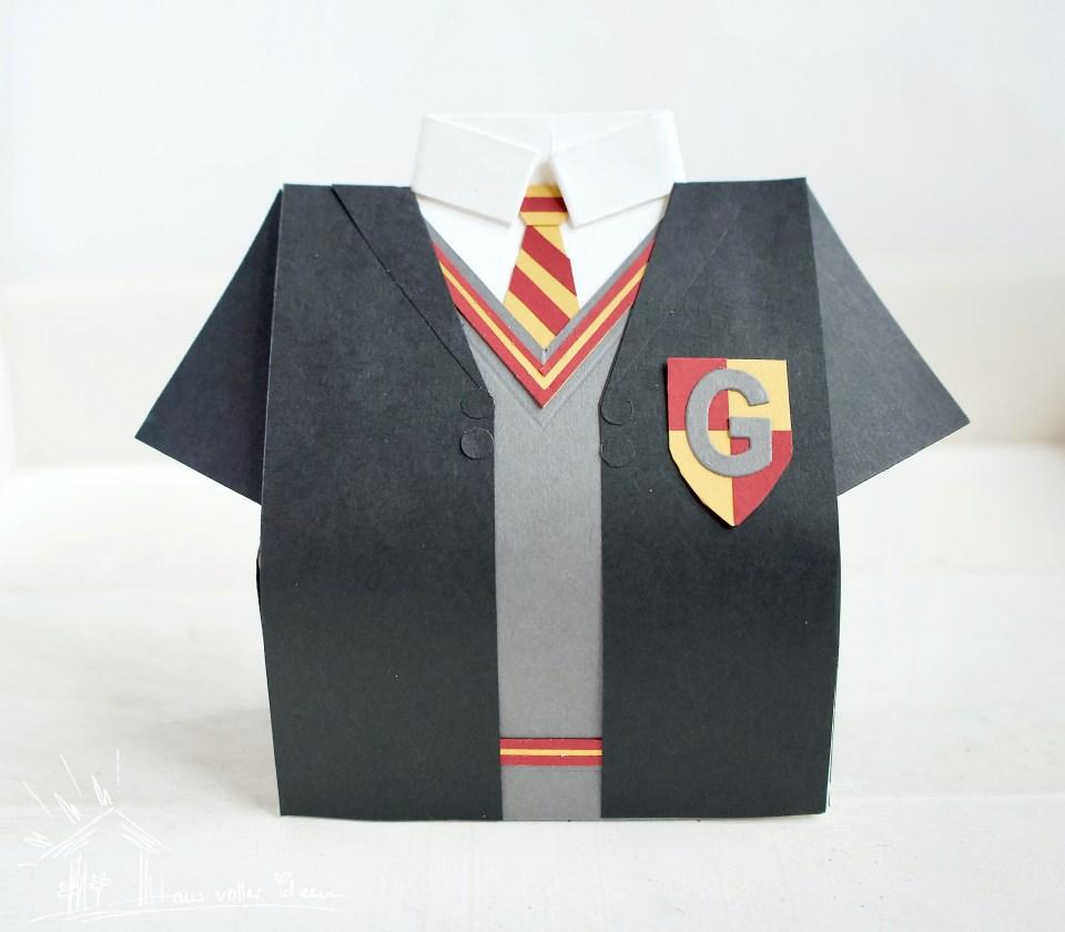 Harry Potter Version der Hemdenbox: Schnittteile und Anleitung für diese Verpackung möglich