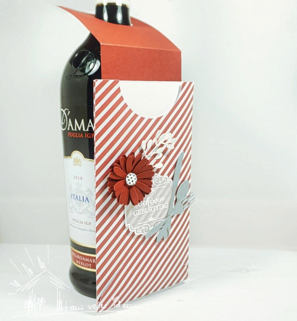 Gutscheingeschenk mit passendem Flaschenanhänger