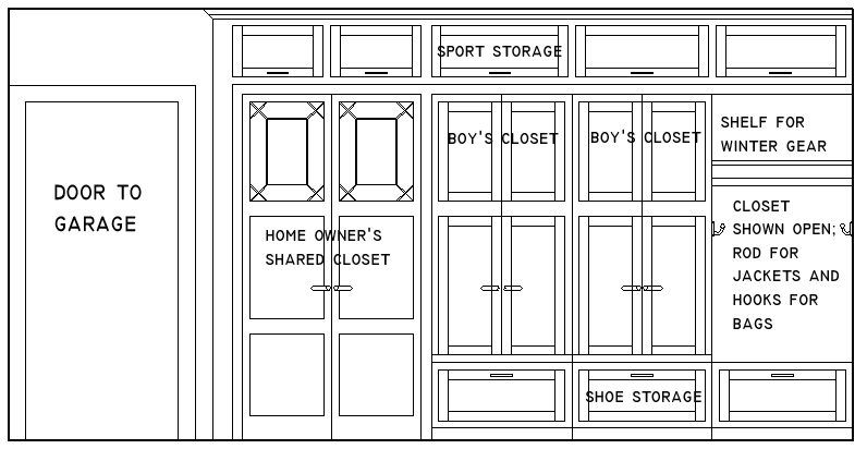 mudroom drawing