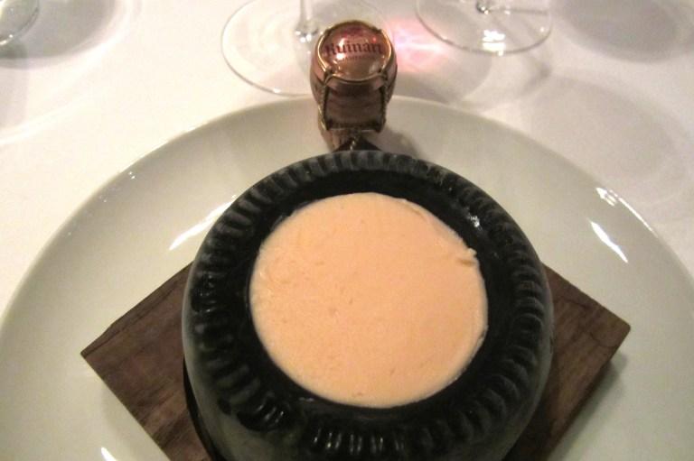 Champagne cream sorbet