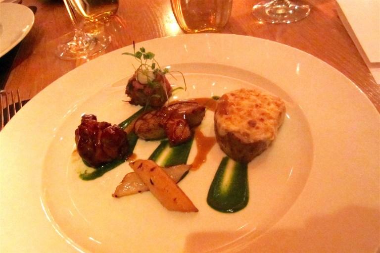 épigramme de veau aux capes: veal sweetbread, roasted veal loin, porcini mushroom cromesquis by Daniel Boulud