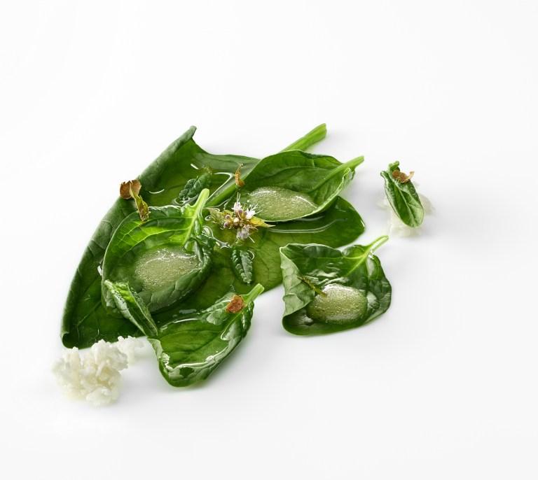 Umami - spinach, almond milk and olive oil. Photo: José Luis López de Zubiria