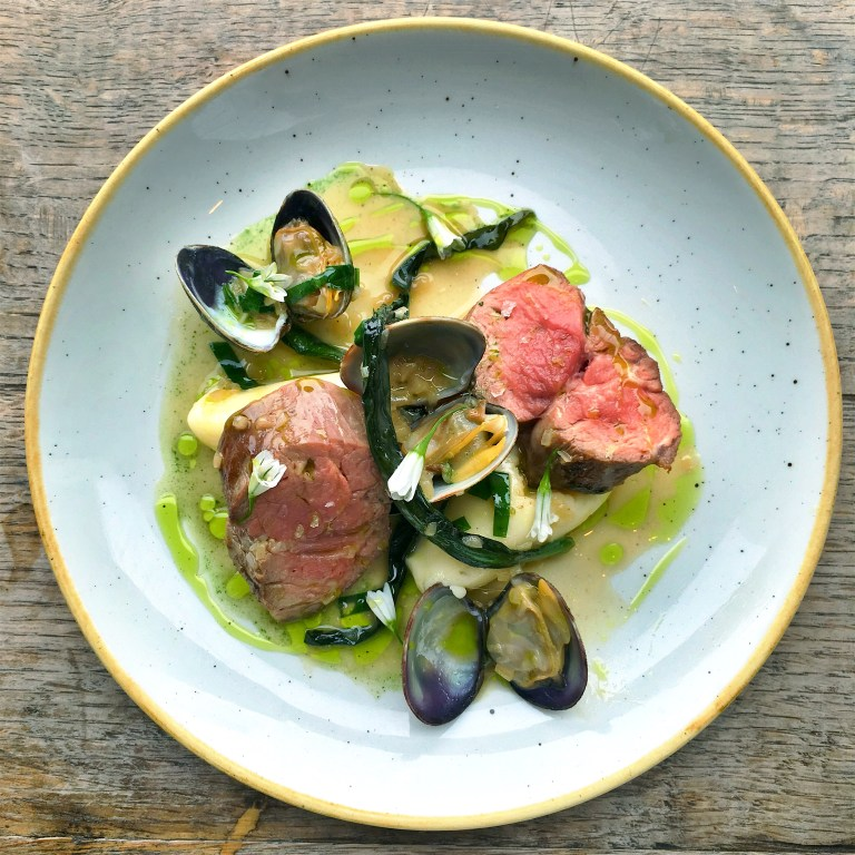 The lamb with clams and wild garlic. Photo: courtesy of Duck & Waffle