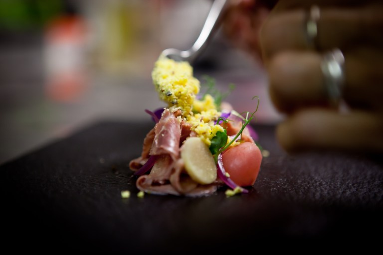 Veal tongue pastrami by Cristina Bowerman. Photo: Aromi Creativi