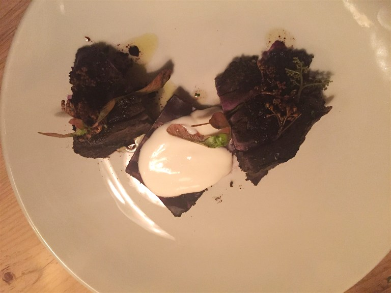 Red cabbage, viili, rosemary