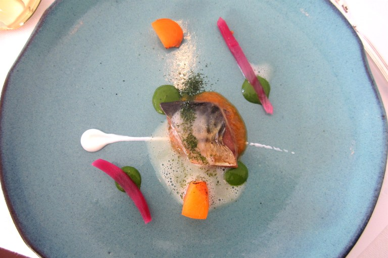 Mackerel, soya and apricot – Francesco Palombo, Tenuta Esedra (Frosinone) **