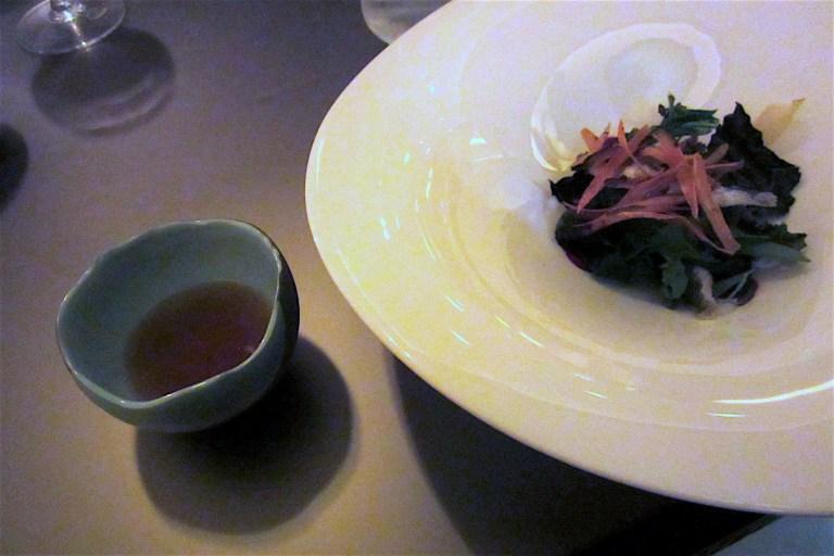 River fish, root chips, Goboucha tea (by Yoji Tokuyoshi)