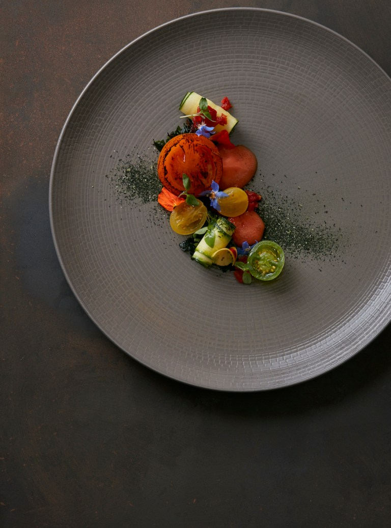 Isle of Wight tomato and seaweed by Mark Jarvis (photo: courtesy of Mark Jarvis)
