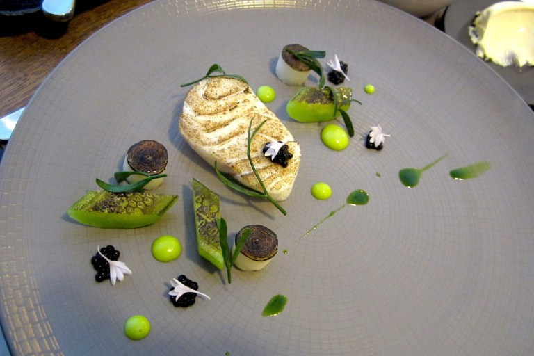 Cod with cucumber and oyster emulsion
