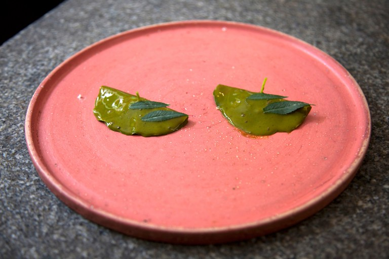 The Nasturtium raviolo. Photo: courtesy of Nicholas Gill